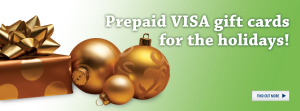 Prepaid VISA gift cards for the holidays!