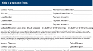Skip-a-pay fill out form