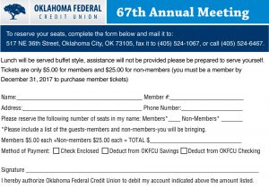 Annual Meeting registration form