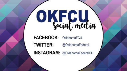 OKFCU social logo with white circle