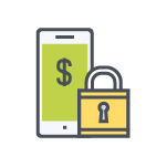 Secure mobile Banking Color Icon