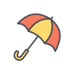 Umbrella Color Icon