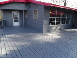 Angle of deck from back door