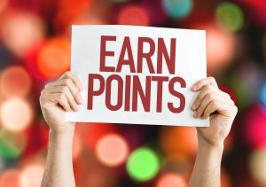 Earn points sign